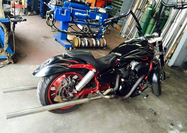 Motorcycle Exhaust Pipe Installation Shop San Diego